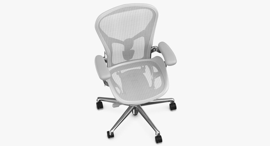 Chaise Herman Miller Aeron - 03 royalty-free 3d model - Preview no. 8