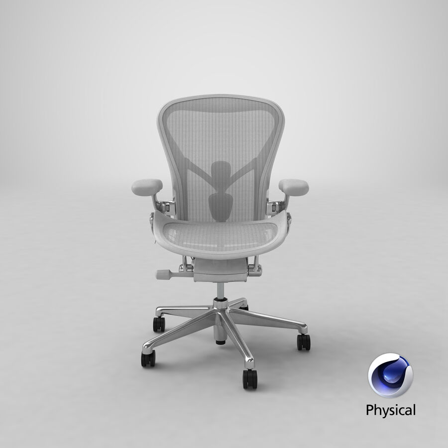 Chaise Herman Miller Aeron - 03 royalty-free 3d model - Preview no. 24