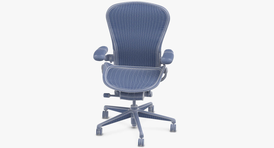 Chaise Herman Miller Aeron - 03 royalty-free 3d model - Preview no. 11