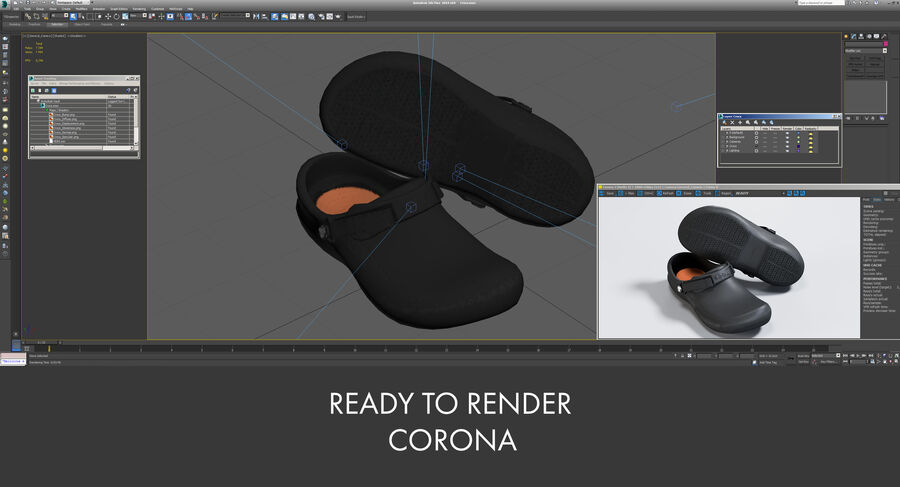 Crocs royalty-free 3d model - Preview no. 17
