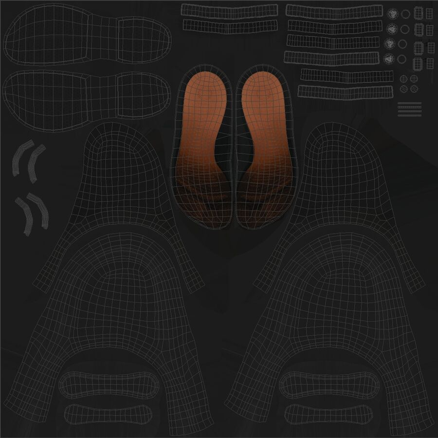 Crocs royalty-free 3d model - Preview no. 19