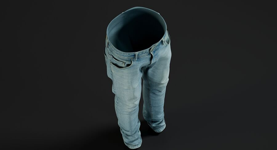 Jeans azul royalty-free modelo 3d - Preview no. 4