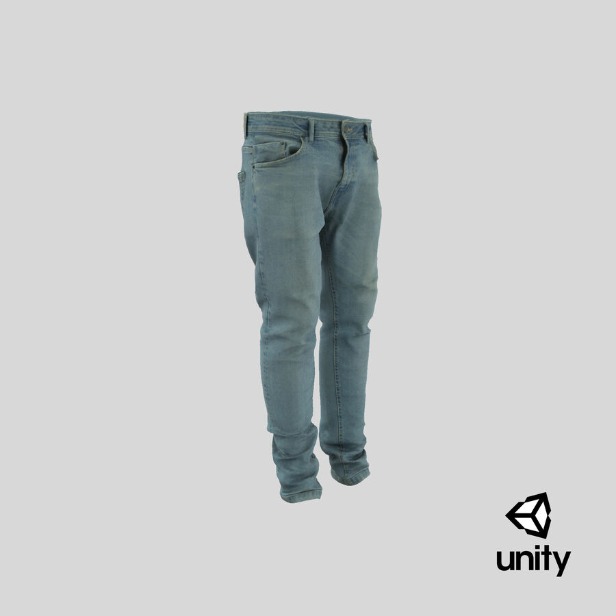Jeans azul royalty-free modelo 3d - Preview no. 27