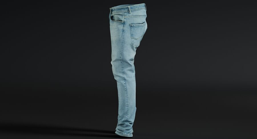 Jeans azul royalty-free modelo 3d - Preview no. 14