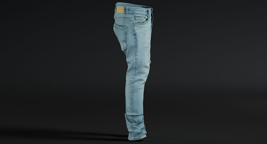 Jeans azul royalty-free modelo 3d - Preview no. 12