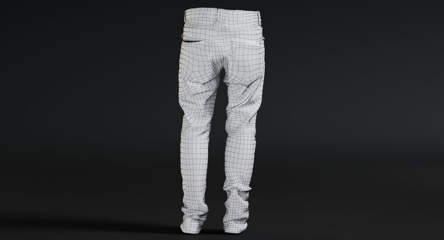 Jeans azul royalty-free modelo 3d - Preview no. 18