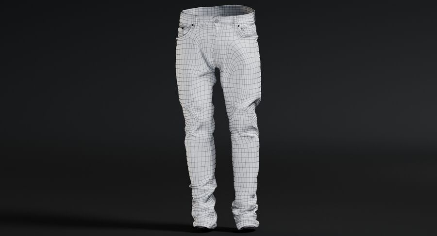 Jeans azul royalty-free modelo 3d - Preview no. 16