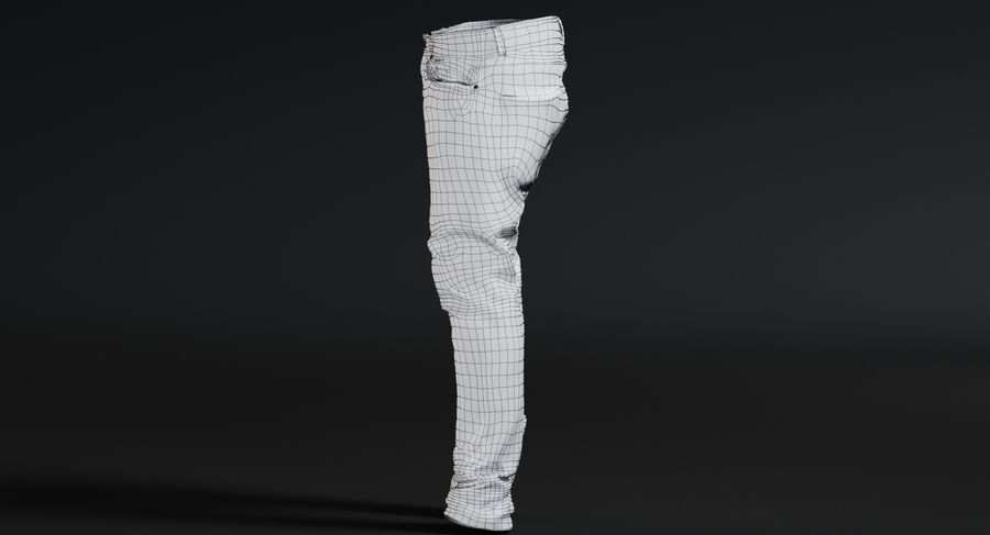 Jeans azul royalty-free modelo 3d - Preview no. 19