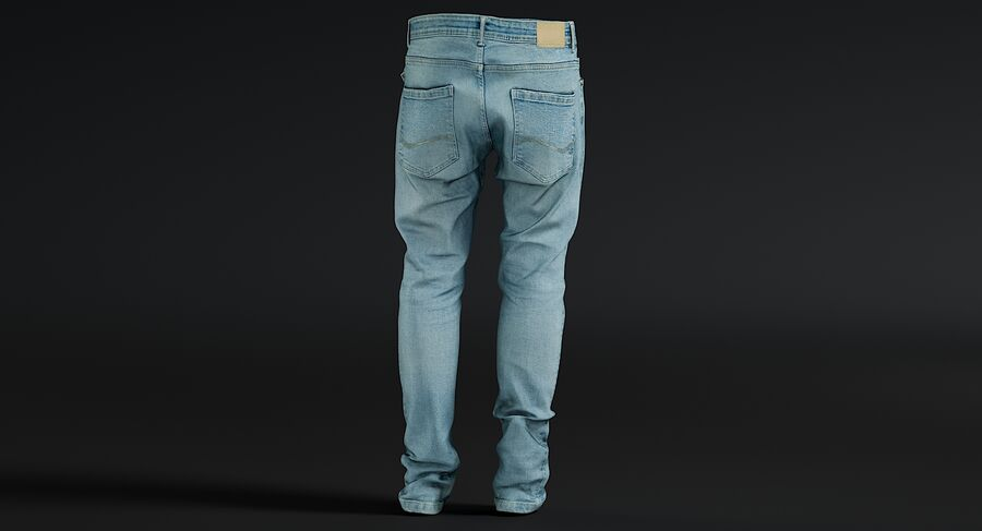 Jeans azul royalty-free modelo 3d - Preview no. 13
