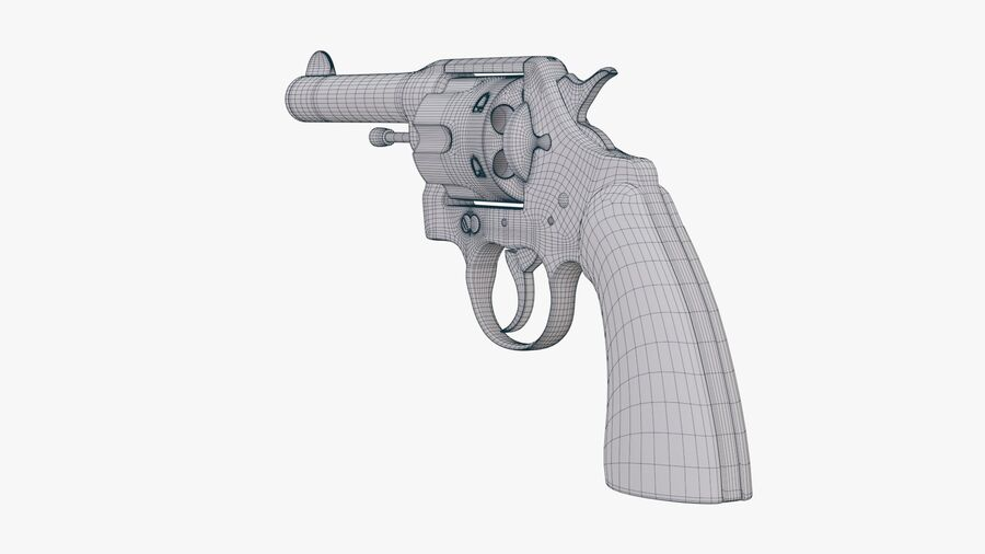 revolver royalty-free 3d model - Preview no. 10
