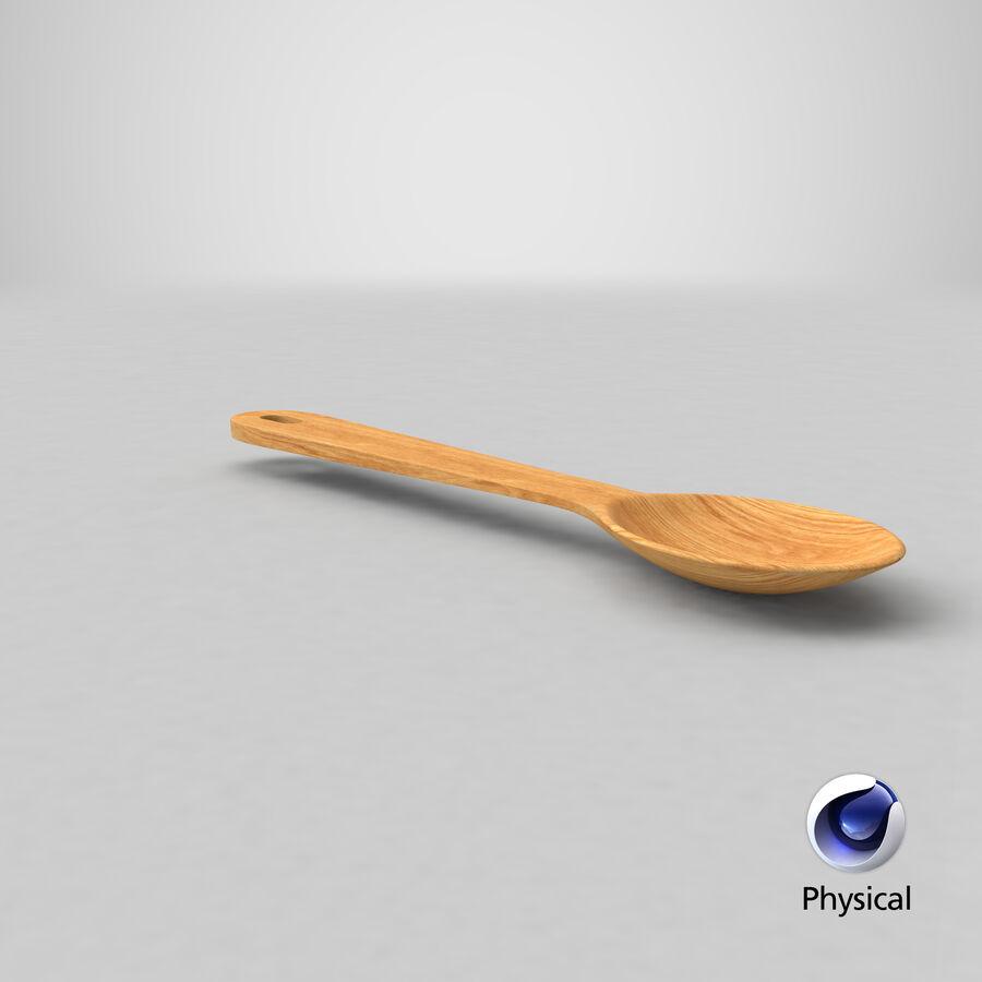Деревянная ложка royalty-free 3d model - Preview no. 20
