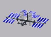Cartoon Simple Space Station 3d model