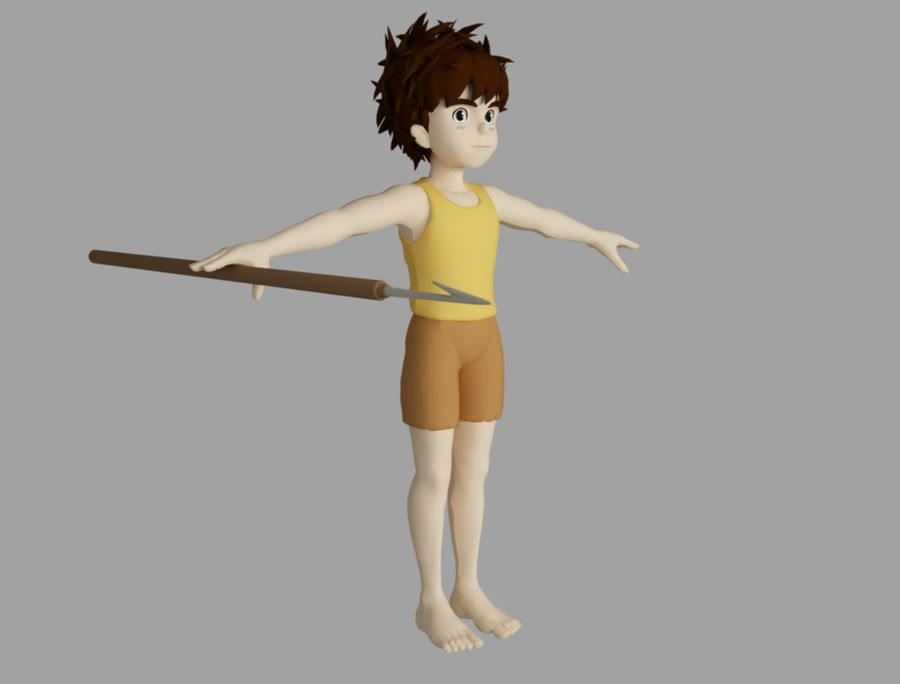 conan royalty-free 3d model - Preview no. 4