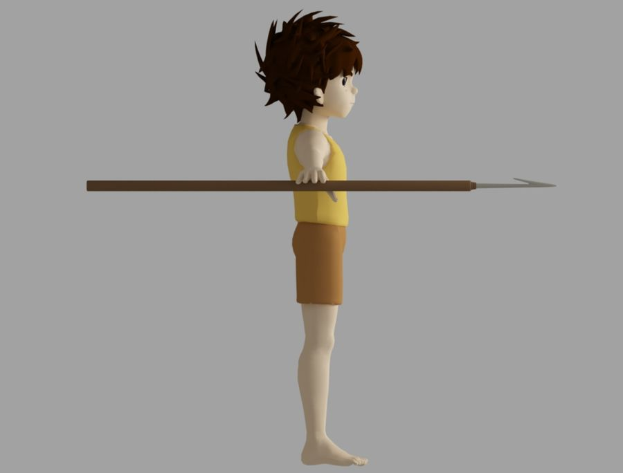 conan royalty-free 3d model - Preview no. 3