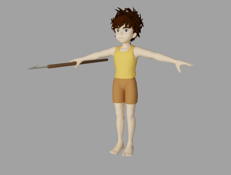 conan royalty-free 3d model - Preview no. 1