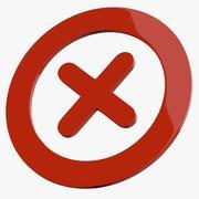 Cross Mark Symbol Symbol 3d model