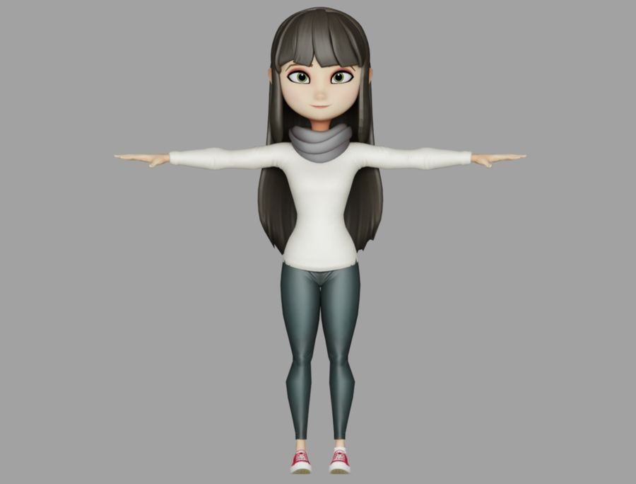 Addie McAlister royalty-free modelo 3d - Preview no. 2