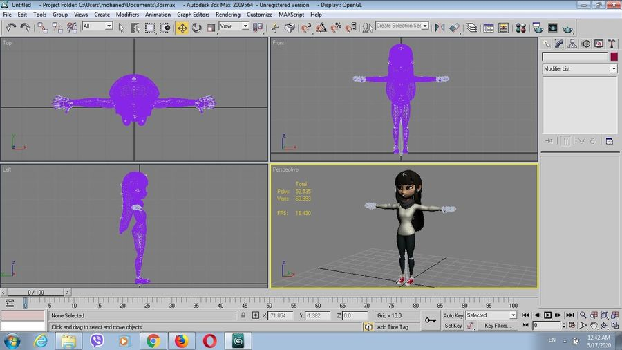 Addie McAlister royalty-free modelo 3d - Preview no. 9