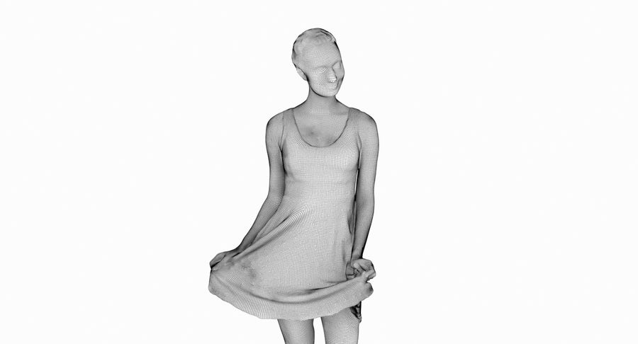 Francine, pose 178 royalty-free 3d model - Preview no. 13