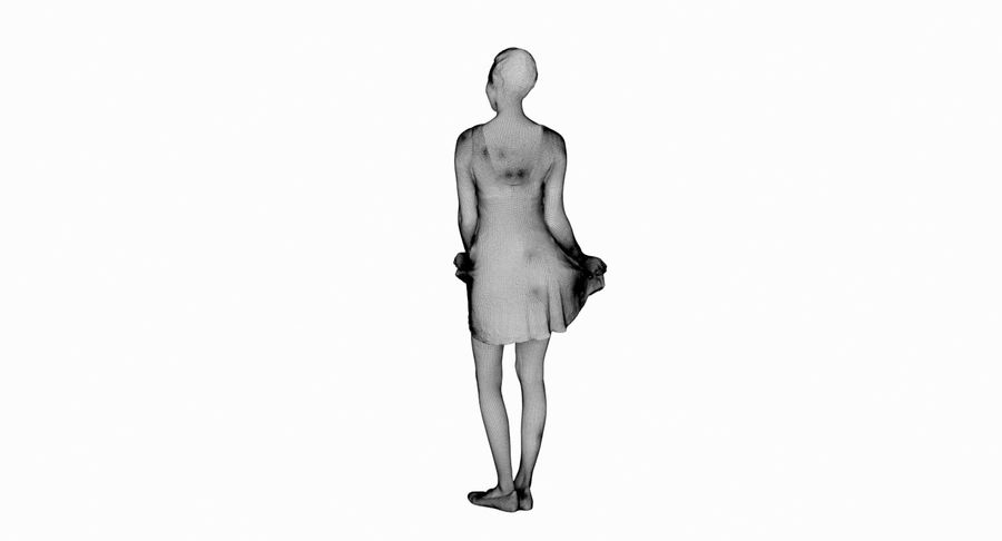 Francine, pose 178 royalty-free 3d model - Preview no. 16