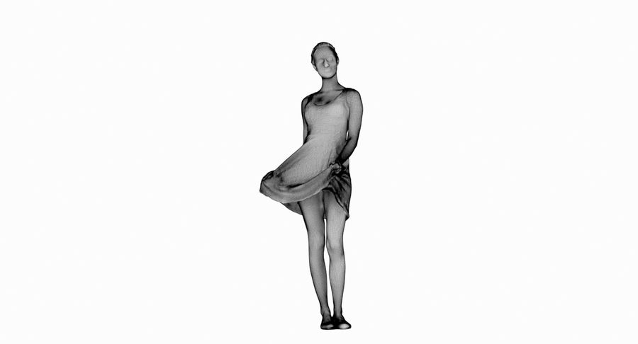 Francine, pose 178 royalty-free 3d model - Preview no. 4