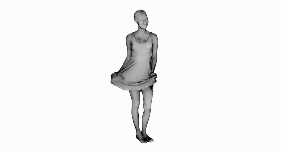 Francine, pose 178 royalty-free 3d model - Preview no. 14
