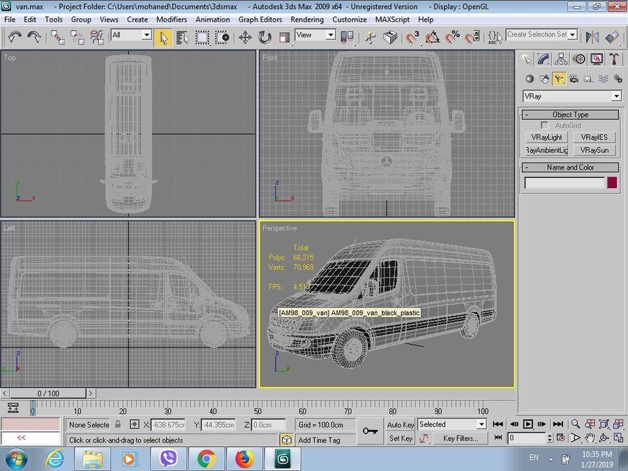 2009 년 반 royalty-free 3d model - Preview no. 10