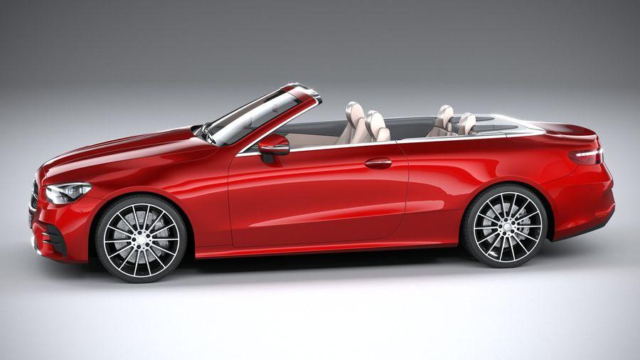 Mercedes E-Class Cabriolet AMG Line 2021 royalty-free 3d model - Preview no. 9