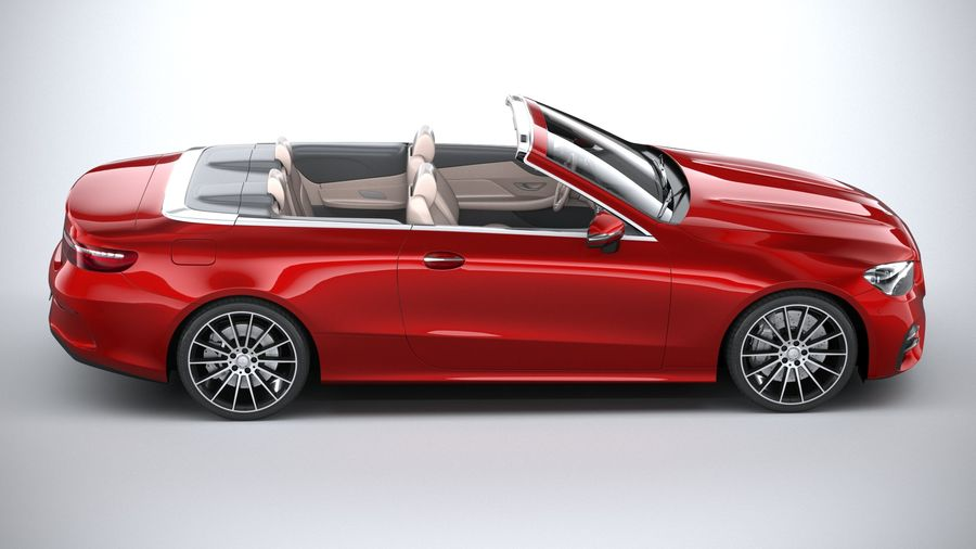 Mercedes E-Class Cabriolet AMG Line 2021 royalty-free 3d model - Preview no. 12