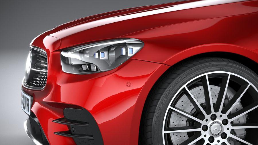 Mercedes E-Class Cabriolet AMG Line 2021 royalty-free 3d model - Preview no. 4