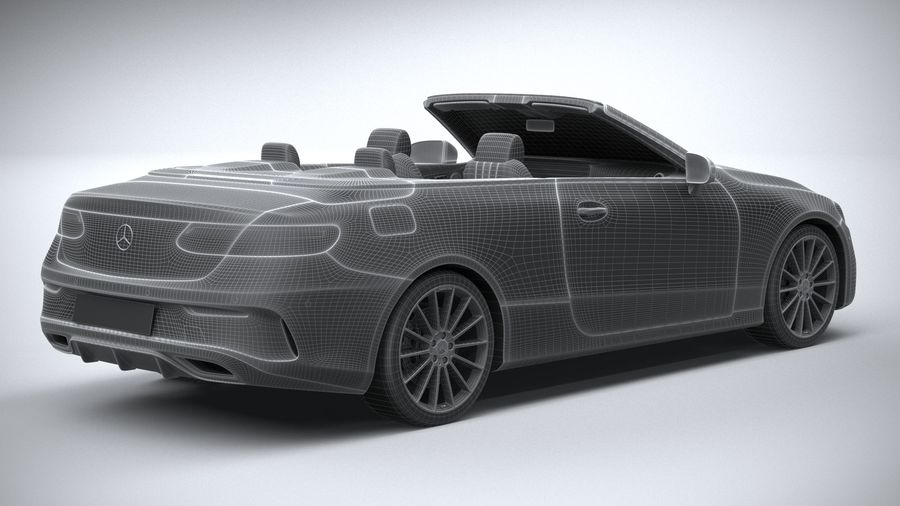 Mercedes E-Class Cabriolet AMG Line 2021 royalty-free 3d model - Preview no. 31