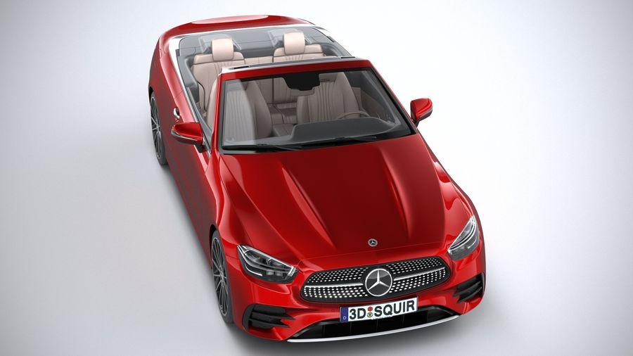 Mercedes E-Class Cabriolet AMG Line 2021 royalty-free 3d model - Preview no. 13
