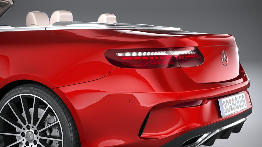 Mercedes E-Class Cabriolet AMG Line 2021 royalty-free 3d model - Preview no. 7