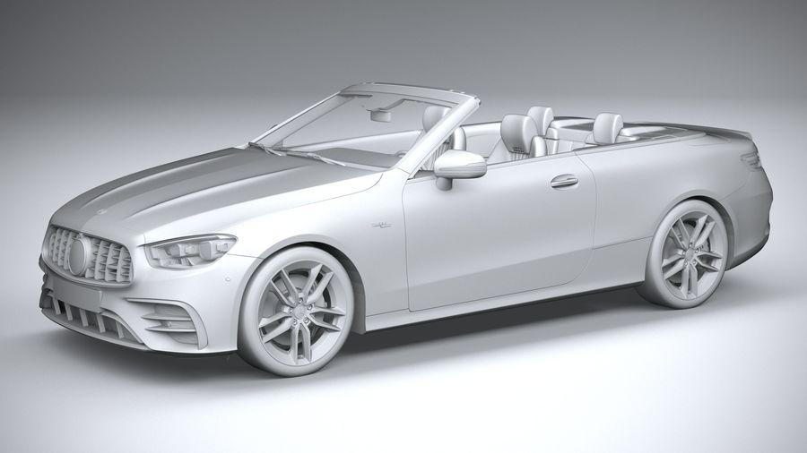 Mercedes E53 Cabrio AMG 2021 royalty-free 3d model - Preview no. 20