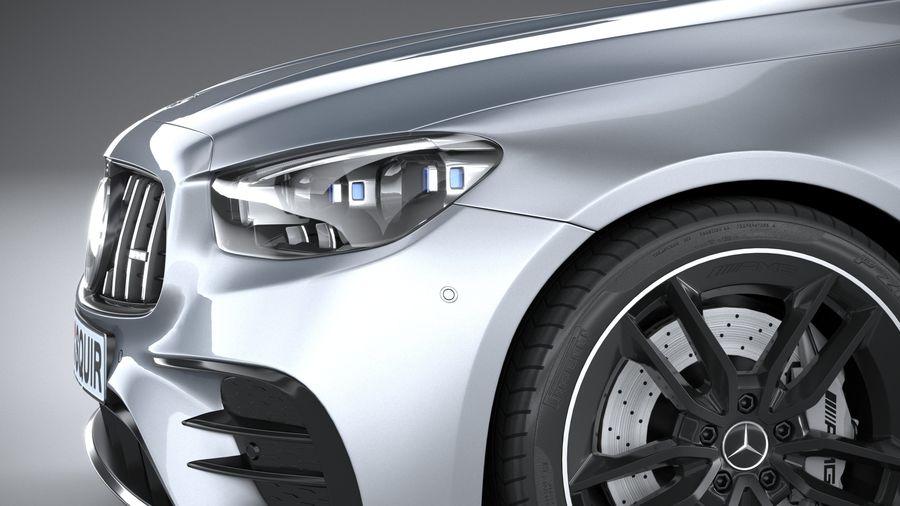 Mercedes E53 Cabrio AMG 2021 royalty-free 3d model - Preview no. 4