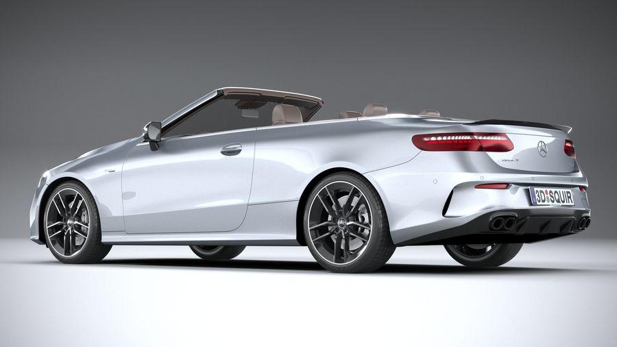 Mercedes E53 Cabrio AMG 2021 royalty-free 3d model - Preview no. 6