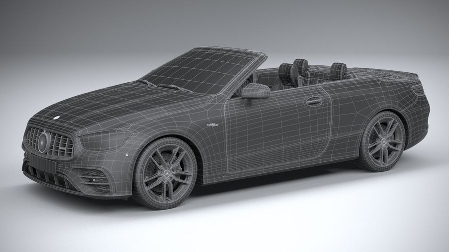 Mercedes E53 Cabrio AMG 2021 royalty-free 3d model - Preview no. 33