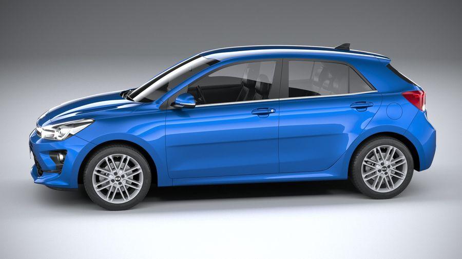 Kia Rio 2021 royalty-free 3d model - Preview no. 9