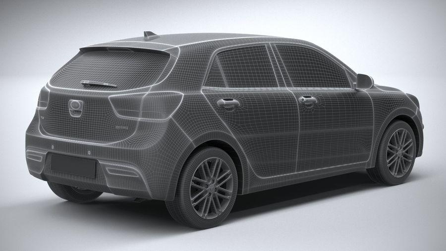 Kia Rio 2021 royalty-free 3d model - Preview no. 28