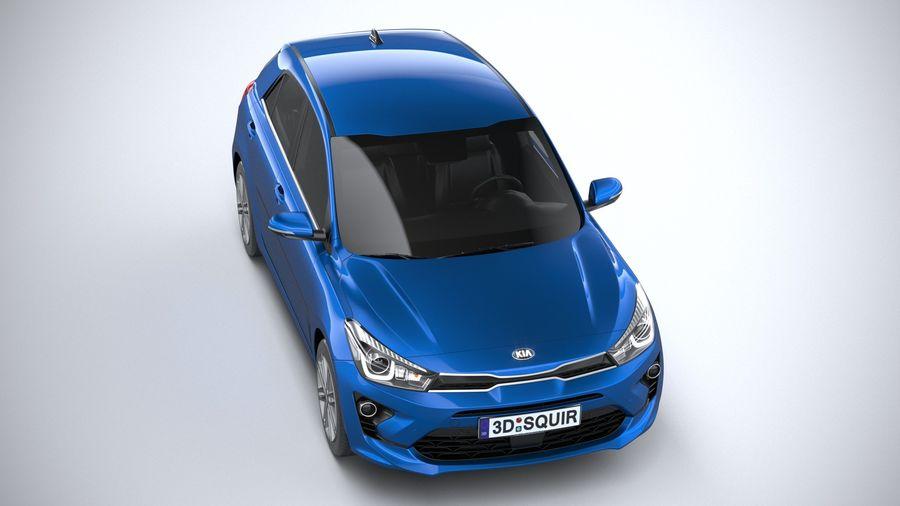 Kia Rio 2021 royalty-free 3d model - Preview no. 13