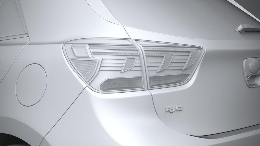 Kia Rio 2021 royalty-free 3d model - Preview no. 25