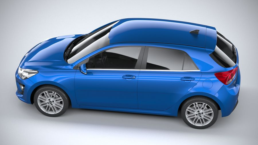 Kia Rio 2021 royalty-free 3d model - Preview no. 10