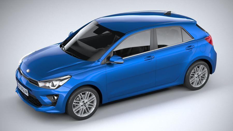 Kia Rio 2021 royalty-free 3d model - Preview no. 8