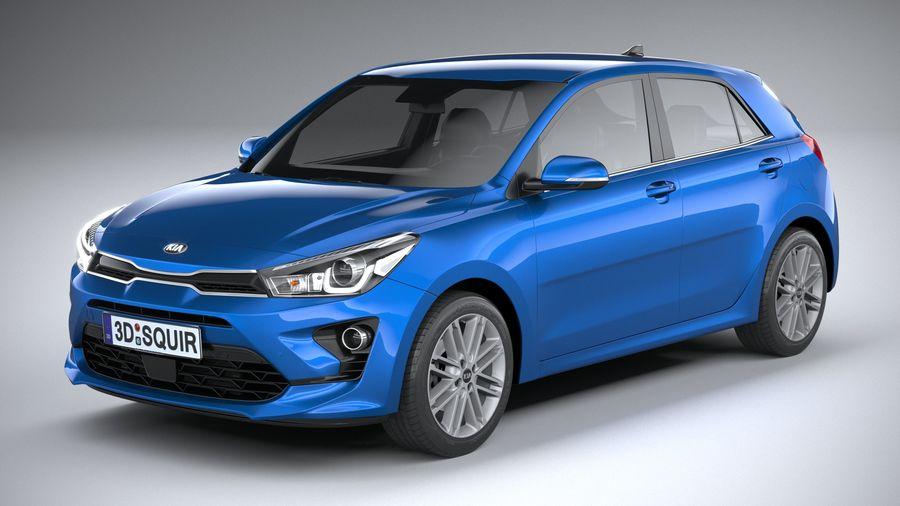 Kia Rio 2021 royalty-free 3d model - Preview no. 2