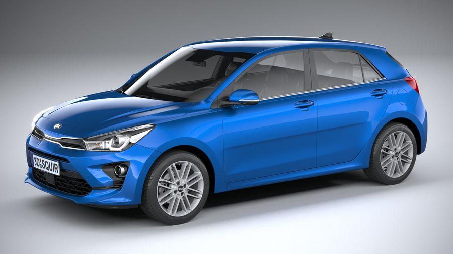 Kia Rio 2021 royalty-free 3d model - Preview no. 1