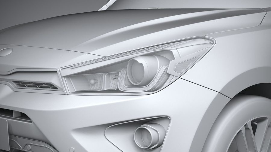 Kia Rio 2021 royalty-free 3d model - Preview no. 24