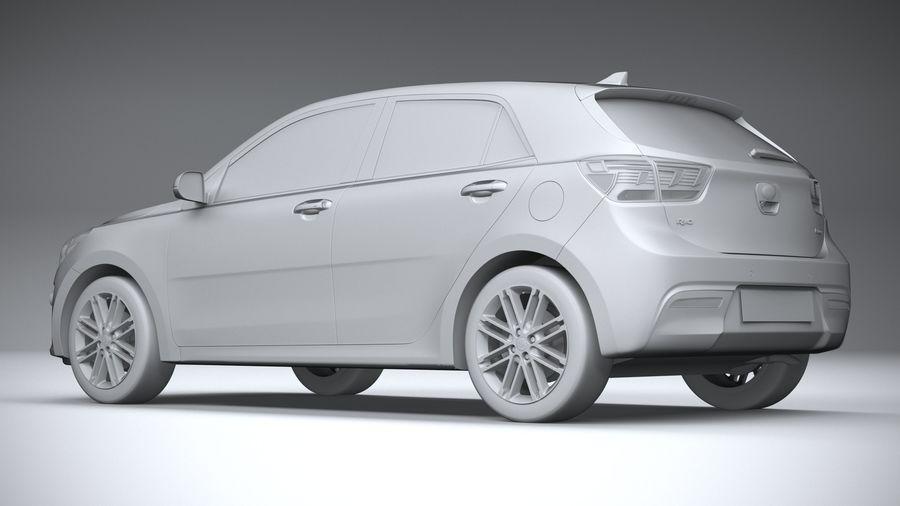 Kia Rio 2021 royalty-free 3d model - Preview no. 22