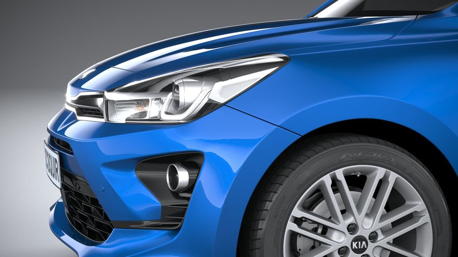 Kia Rio 2021 royalty-free 3d model - Preview no. 4