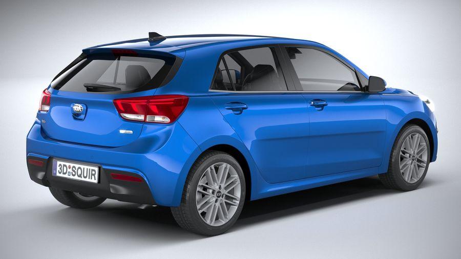 Kia Rio 2021 royalty-free 3d model - Preview no. 18