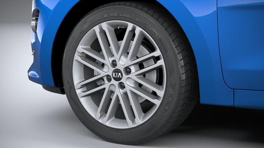 Kia Rio 2021 royalty-free 3d model - Preview no. 17